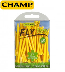 Plastic golf tees by Champ Golf